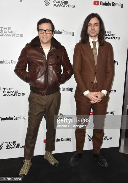 Rivers Cuomo and Brian Bell attend The 2018 Game Awards at Microsoft Theater on December 06, 2018 in Los Angeles, California.