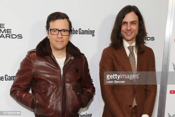 Rivers Cuomo and Brian Bell attend The Game Awards 2018 - Arrivals at Microsoft Theater on December 06, 2018 in Los Angeles, California.