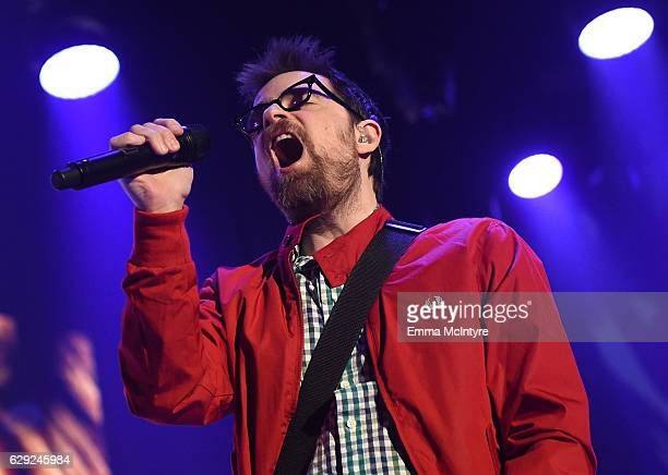 Rivers Cuomo of the band Weezer performs onstage at 1067 KROQ Almost Acoustic Christmas 2016 Night 2 at The Forum on December 11 2016 in Inglewood...