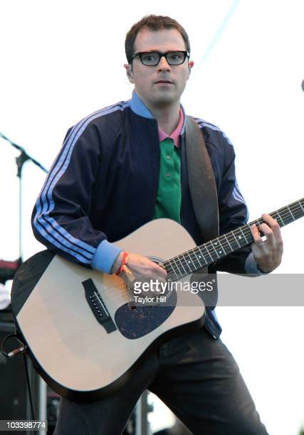 Rivers Cuomo of Weezer performs at the 2010 Mile High Music Festival at Dick's Sporting Goods Park on August 15 2010 in Commerce City Colorado