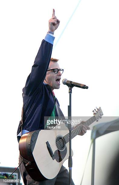 Rivers Cuomo of Weezer performs at the 2010 Mile High Music Festival at Dick's Sporting Goods Park on August 15, 2010 in Commerce City, Colorado.