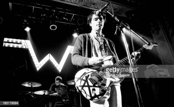 Rivers Cuomo of Weezer performs on stage United Kingdom 1994
