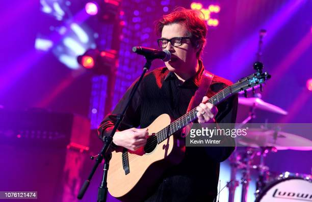 Rivers Cuomo of Weezer performs onstage during Dick Clark's New Year's Rockin' Eve With Ryan Seacrest 2019 on December 31 2018 in Los Angeles...