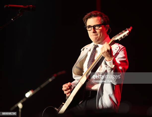 Rivers Cuomo of Weezer performs onstage during KROQ Almost Acoustic Christmas 2017 at The Forum on December 10 2017 in Inglewood California