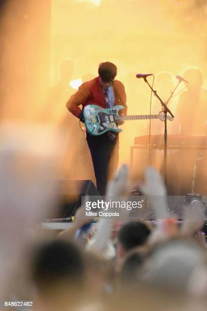 Rivers Cuomo of Weezer performs onstage during the Meadows Music and Arts Festival Day 3 at Citi Field on September 17 2017 in New York City