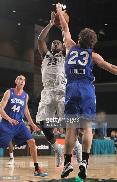 C Rivers of the Reno Bighorns shoots the ball against the Delaware 87ers during the 2014 NBA DLeague Showcase presented by Samsung Galaxy on January...