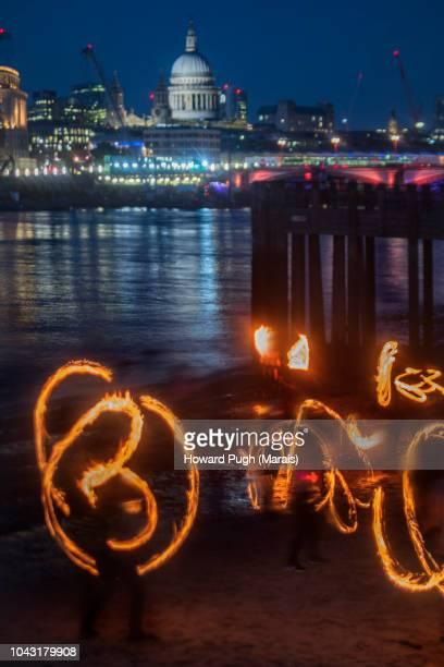 Riverside City Twilight Fire Dancers