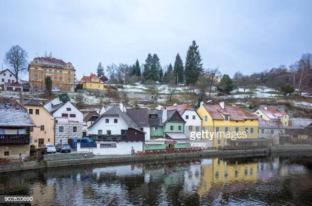 riverside colours, český krumlov, czech republic - vsojoy stock pictures, royalty-free photos & images