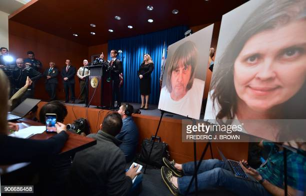 Riverside County District Attorney Michael Hestrin speaks during a press conference in Riverside California on a California couple who held their 13...
