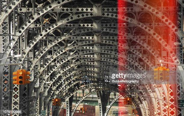riverside drive viaduct, at 125th street and 12th avenue, harlem, manhattan - harlem stock pictures, royalty-free photos & images