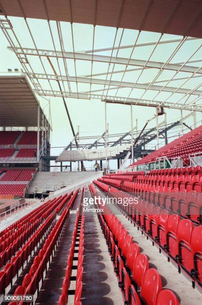 Riverside Football Stadium, the home of Middlesbrough F.C. In Middlesbrough. The capacity is being increased by filling in the north and south-west...