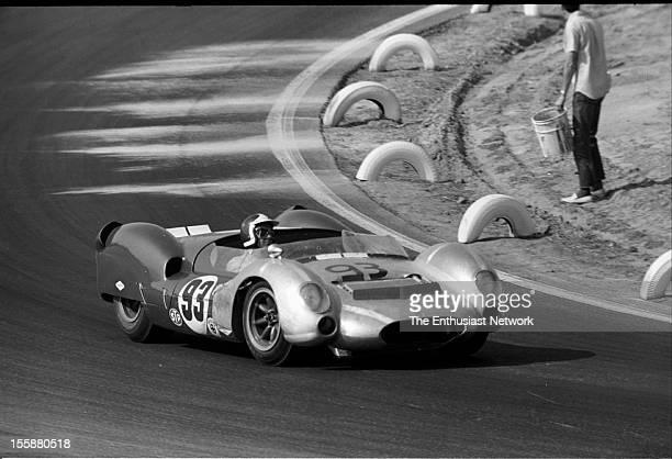 Riverside Grand Prix Bob Bondurant of Shelby American racing drives his Ford powered Cooper King Cobra