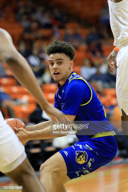 Riverside guard Dikymbe Martin looks to pass out of the post during the a college basketball game between UC Riverside Highlanders and UTEP Miners on...
