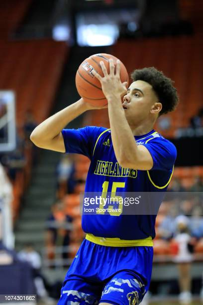 Riverside Highlanders guard Dikymbe Martin shoots a jump shot during a college basketball game between UC Riverside Highlanders and UTEP Miners on...