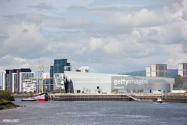 riverside museum, glasgow - theasis stock pictures, royalty-free photos & images