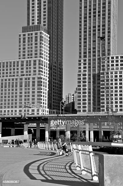riverside park south scene, manhattan, new york city - joe dimaggio highway stock photos and pictures