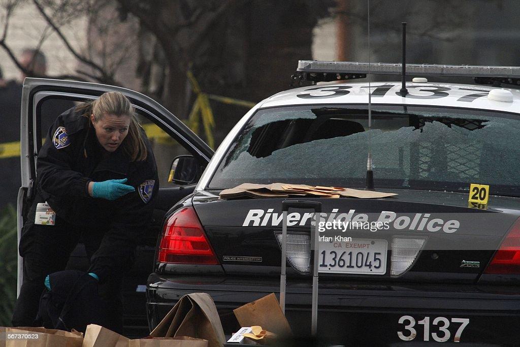 CA  FEBRUARY 07 , 2013 - Riverside police investigators at