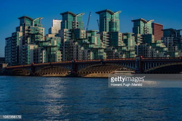 Riverside Urban Skyline. Architecture, Atmosphere & Sunsets