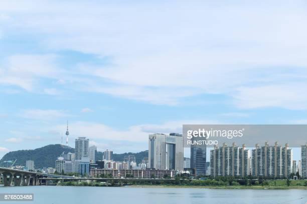 Riverside view in Seoul
