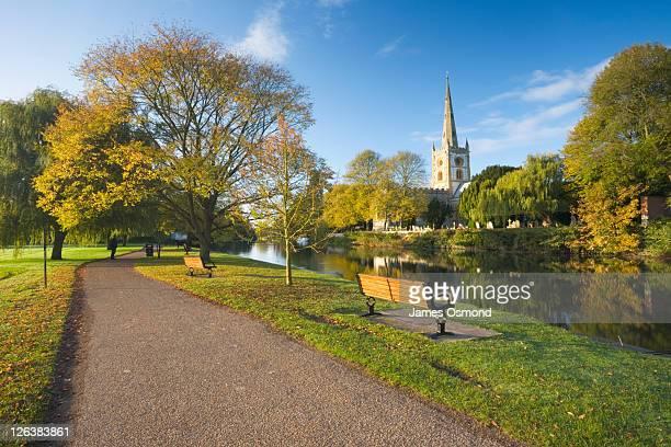 Riverside Walk on The Recreation Grounds, Stratford-upon-Avon, Warwickshire, England, UK