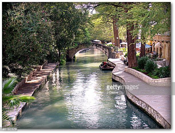 riverside walkway - san antonio stock photos and pictures