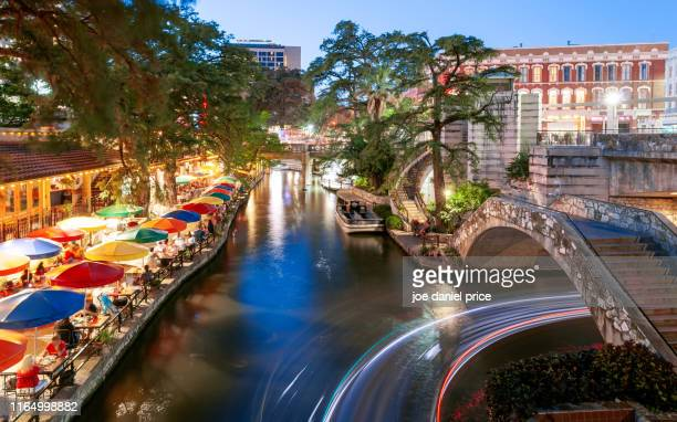 riverwalk, san antonio, texas, america - san antonio texas stock photos and pictures