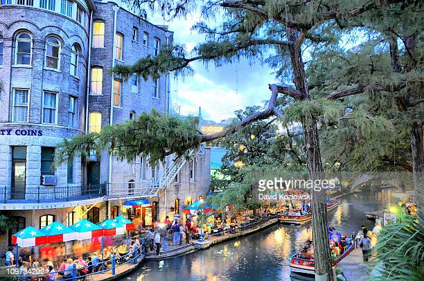riverwalk, san antonio, texas - san antonio texas stock photos and pictures