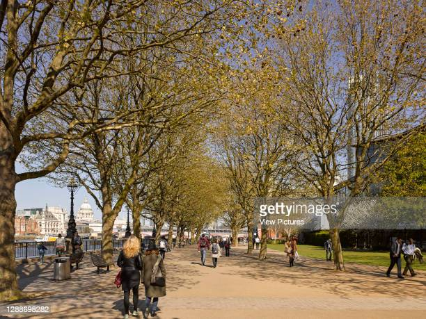 Riveside walk. Southbank London, London, United Kingdom. Architect: Lifschutz Davidson Sandilands, 2017.