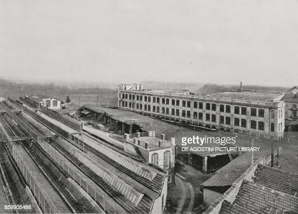 Rivetti woollen mills, Biella, Italy, from L'Illustrazione Italiana, Year XLIV, No 13, April 1, 1917.