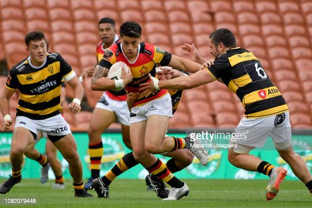 Rivez Reihana of Waikato in action during the round 7 Mitre 10 Cup match between Waikato and Taranaki at FMG Stadium on October 25 2020 in Hamilton...