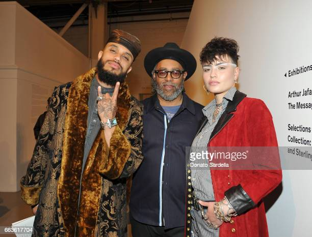 Rivington Starchild artist Arthur Jafa and model Cuba Scott attend MOCA's Leadership Circle and Members' Opening of 'Carl Andre Sculpture as Place...