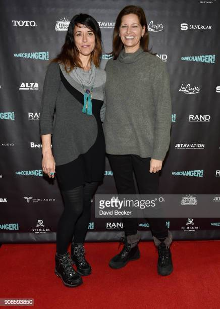 Rivkah Beth Medow and Jennifer Rainin attend the Gamechanger Films reception at the RAND Luxury Escape during the 2018 Sundance Film Festival at The...