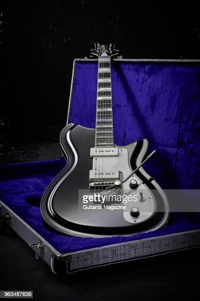 A Rivolta Combinata Deluxe Trem electric guitar with a Toro Black Metallic finish taken on April 26 2017
