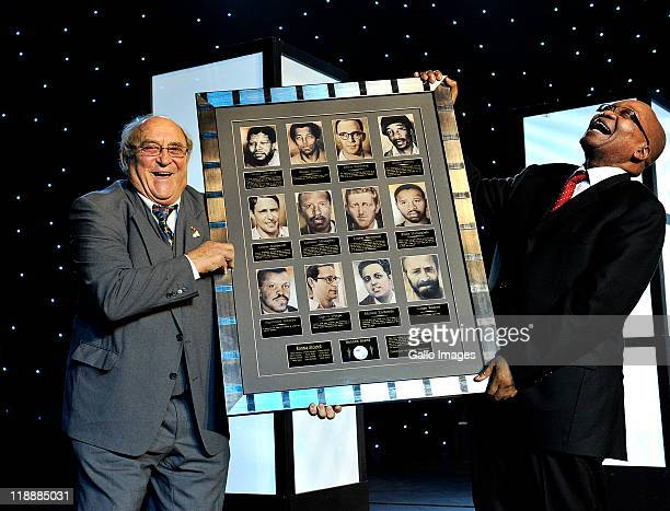 Rivonia trialist Denis Goldberg recieving an award of honour from President Jacob Zuma at a gala event at the Sandton Convention Centre on July 11...