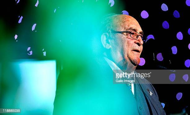 Rivonia trialist Denis Goldberg speaking at a gala event at the Sandton Convention Centre on July 11 2011 in Johannesburg South Africa The event was...