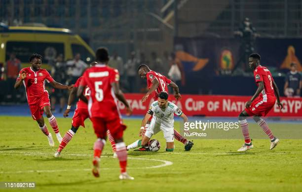Riyad Karim Mahrez of Algeria during the 2019 African Cup of Nations match between Algeria and Kenya at the 30 November Stadium in Cairo Egypt on...
