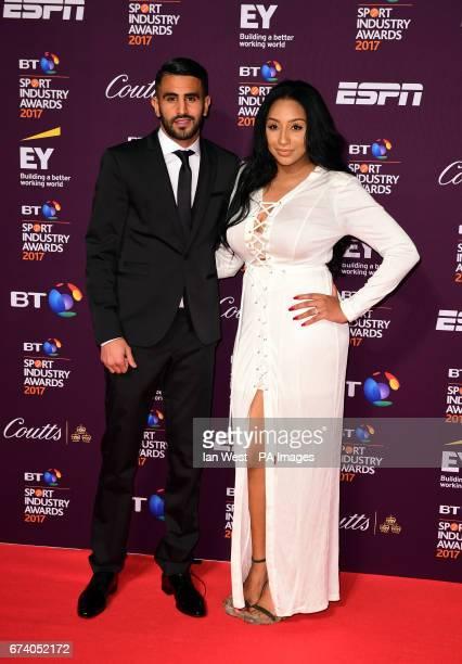 Riyad Mahrez and Rita Johal attending the BT Sport Industry Awards 2017 held at Battersea Evolution in Battersea Park London