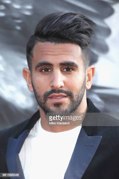 Riyad Mahrez attends the European premiere of 'King Arthur Legend of the Sword' at Cineworld Empire on May 10 2017 in London United Kingdom