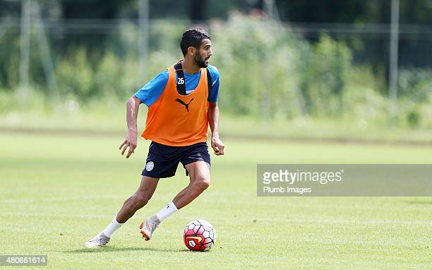 Riyad Mahrez during the Leicester City training session at their preseason training camp on July 14 2015 in Spielfeld Austria