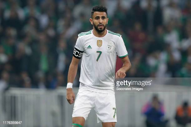Riyad Mahrez of Algeria during the International Friendly match between Algeria v Colombia at the Stade Pierre Mauroy on October 15, 2019 in Lille...