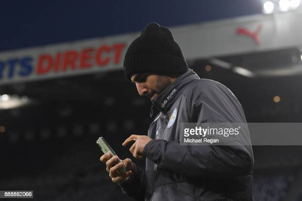 Riyad Mahrez of Leicester City arrives at the stadium prior to the Premier League match between Newcastle United and Leicester City at St James Park...