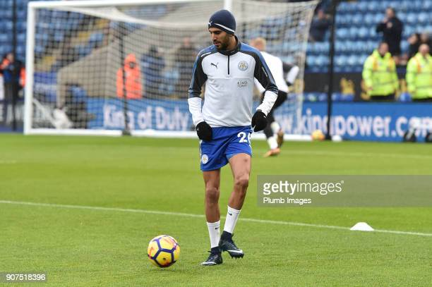 Riyad Mahrez of Leicester City before the Premier League match between Leicester City and Watford at The King Power Stadium on Jnuary 20th 2018 in...