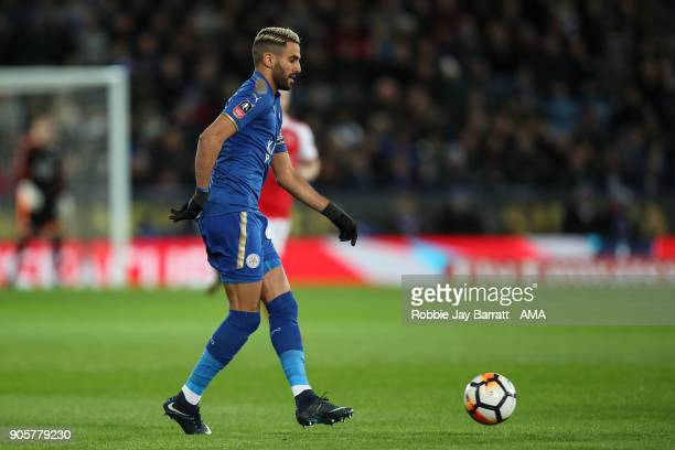 Riyad Mahrez of Leicester City during The Emirates FA Cup Third Round Replay match between Leicester City and Fleetwood Town at The King Power...