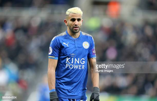 Riyad Mahrez of Leicester City during the Premier League match between Newcastle United and Leicester City at St James Park on December 9th 2017 in...