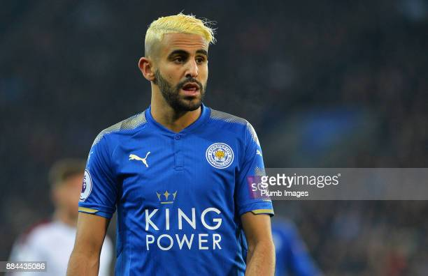 Riyad Mahrez of Leicester City during the Premier League match between Leicester City and Burnley at King Power Stadium on December 2nd 2017 in...