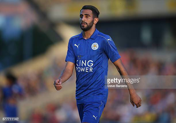 Riyad Mahrez of Leicester City during the preseason friendly between Oxford City and Leicester City at Kassam Stadium on July 19 2016 in Oxford...