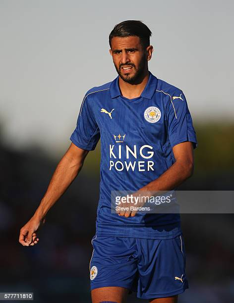 Riyad Mahrez of Leicester City during the preseason friendly between Oxford United and Leicester City at Kassam Stadium on July 19 2016 in Oxford...