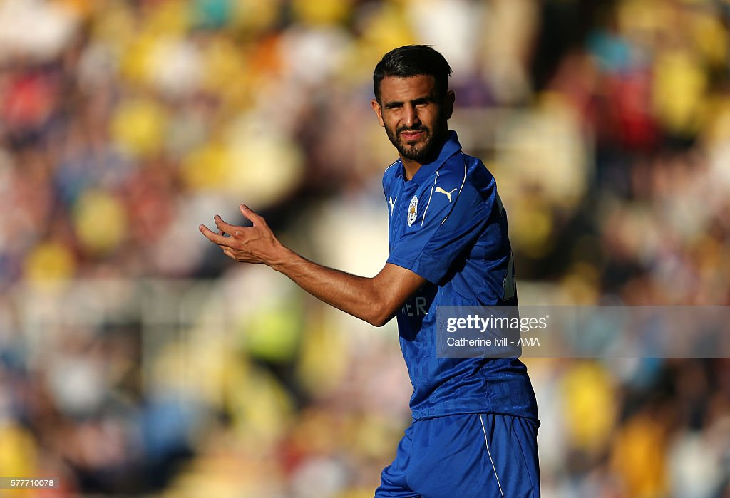 Riyad Mahrez of Leicester City during the Pre-Season Friendly match between Oxford United and Leicester City at Kassam Stadium on July 19, 2016 in Oxford, England.