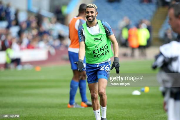 Riyad Mahrez of Leicester City during the warm up at Turf Moor ahead the Premier League match between Burnley and Leicester City at Turf Moor on...