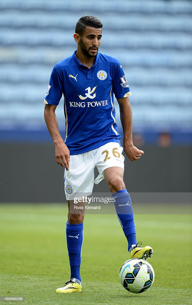 Riyad Mahrez of Leicester City in action during the pre season friendly match between Leicester City and Werder Bremen at The King Power Stadium on August 9, 2014 in Leicester, England.